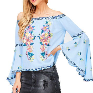 Maui Tropics Off Shoulder Blouse