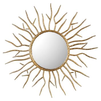 Astor Antiqued Gold Starburst Wall Mirror by Uttermost