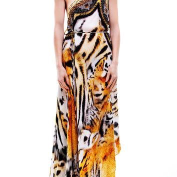 Parides Amazonia 3 Way Maxi Dress Tiger