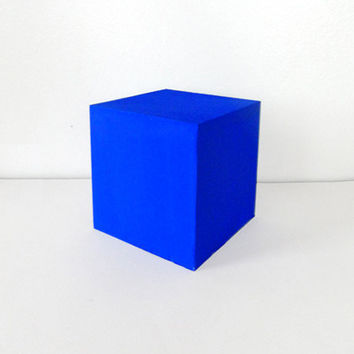 Ultramarine Blue Wooden Cube