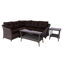 Michael Anthony Tortuga 7 piece Modular Wicker Sectional Set