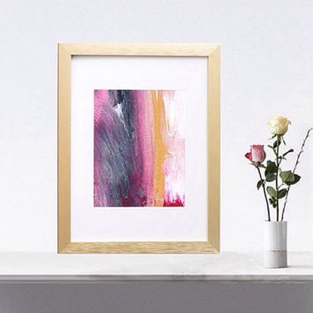 Metallic print iridescent pink and black and gold print pink and grey art print pink wall art gold wall art print abstract print gold art