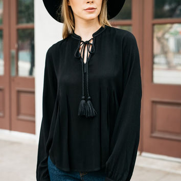 Holiday Party Tassel Top