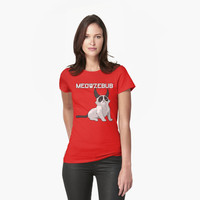 Meowzebub Devil Cat T Shirt by bitsnbobs