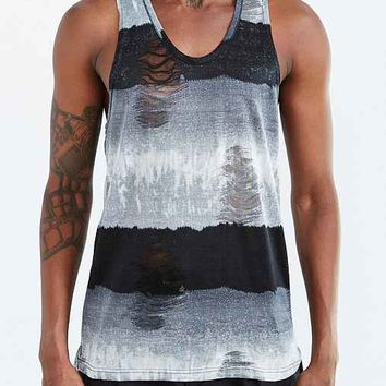 Shades Of Grey By Micah Cohen Destroyed Tank- Blue