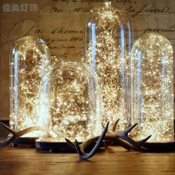 2M 3M 4M 5M 10M3XAA Battery Christmas Lights LED Copper Wire Fairy Lights For Festival Wedding Party Home Decoration LampKYY8046