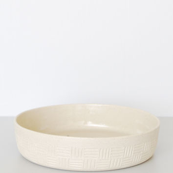 Hand Carved Serving Bowl - Natural Large