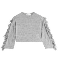 Julien David - Cropped Cotton Top with Fringe