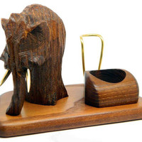 """Exclusive Wooden Pipes Stand """"MAMMOTH"""" for Tobacco Smoking Pipes. Handmade. Handmade Ash-Tree"""