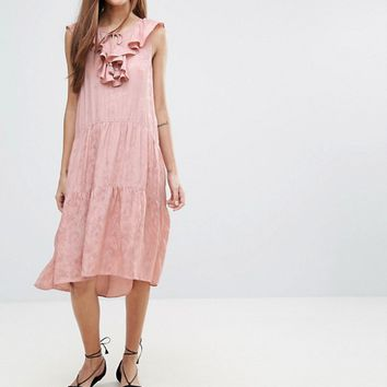 Whistles Stephanie Ruffle Jacqaurd Dress at asos.com