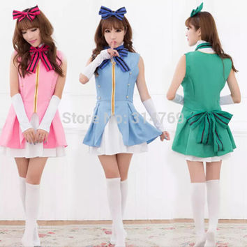 Anime Love Live Kousaka Honoka Umi Sonoda Minami Kotori Cosplay Costume Love Live Start dash Cosplay Theatrical Clothes