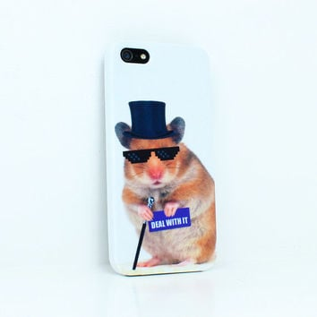 Deal With It Hamster . iPhone 4 case . iPhone 5 case