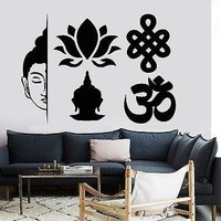 Wall Decal Buddha Elements Buddhism Yoga Meditation Vinyl Sticker Unique Gift (z2861)