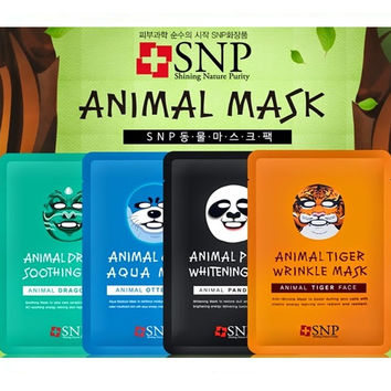 Animals Character Printed Mask (4 Types X2)