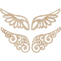Kaisercraft: Wooden Wings - Flourishes, 2 Pair