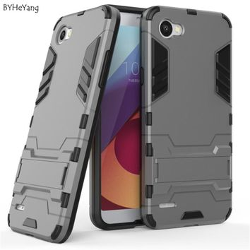 BYHeYang case For LG Q6 Back Cover Case Silicone Rugged Hybrid Heavy Duty Shockproof Armor Cover For LG Q6 Case Q6A Alpha M700