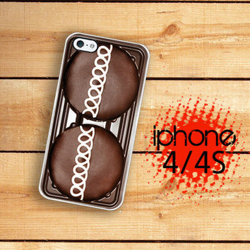 iPhone Case Chocolate Cupcake / Hard Case For iPhone 4 and iPhone 4S Chocolate Cake