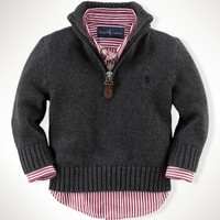 Half-Zip Cotton Pullover - Sweaters   Infant Boy (9M–24M) - RalphLauren.com