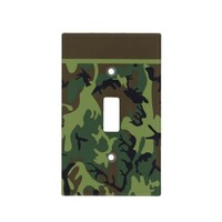 Green Camouflage Light Switch Covers