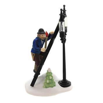 Department 56 Accessory LAMPLIGHTER ACCESSORY SET / 2 Retired Dickens Street Lights 55778