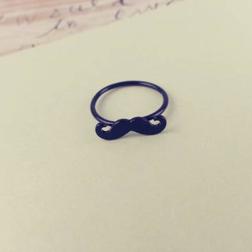 mustache Ring by LemonTreeLand on Etsy