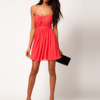 ASOS Mini Skater Dress with Sweetheart Neck