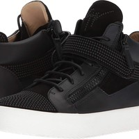 Giuseppe Zanotti Mens May London Small Crystal Mid Top Sneaker