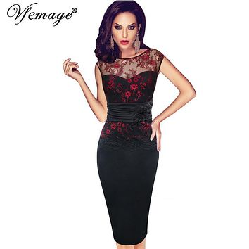 Women Sexy embroidered Floral Lace  Party Evening Bridesmaid Mother of Bride Embroidery Dress