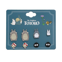 Studio Ghibli My Neighbor Totoro Earrings 4 Pair