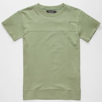 Civil Biker Ribbed Mens T-Shirt Army  In Sizes
