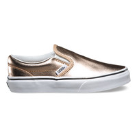 Kids Metallic Leather Slip-On | Shop Girls Shoes at Vans