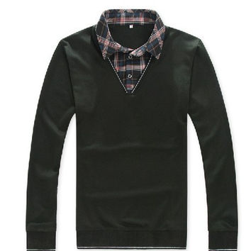 Men's Sweater With Turn Down Collar