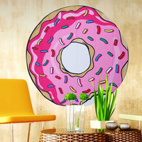 Bohemian Round Hippie Pink Donut Tapestry/Throw/Table Cloth/Window Covering/Yoga Mat etc..... Round 150cm/59.0""