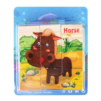 Educational Toy for Kids 3D Wooden Puzzle Jointed Board Cube Puzzle Building Block NO.10