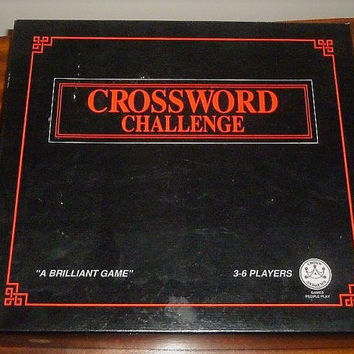 "Vintage 1991 ""Crossword Challenge"" Board Game by Crown & Andrews / Crossword Game / Puzzle"