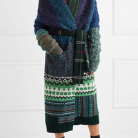 Burberry - Oversized patchwork cashmere-blend cardigan