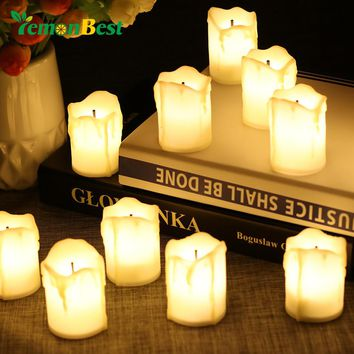 LemonBest 12pcs Flameless LED Candle Light Tea Lights
