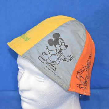 60s Disneyland Mickey Mouse Donald Duck Rainbow Bucket Hat