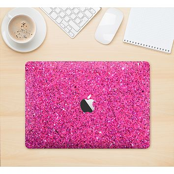 """The Pink Sparkly Glitter Ultra Metallic Skin Kit for the 12"""" Apple MacBook"""