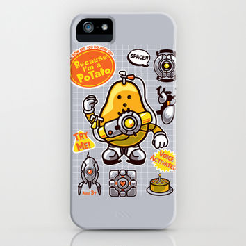 Mrs. Potato GLADos iPhone & iPod Case by MeleeNinja