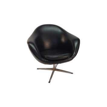 Pre-owned Vintage Black Vinyl Egg Chair
