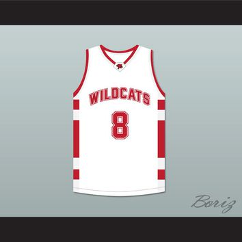 Chad Danforth 8 East High School Wildcats White Basketball Jersey