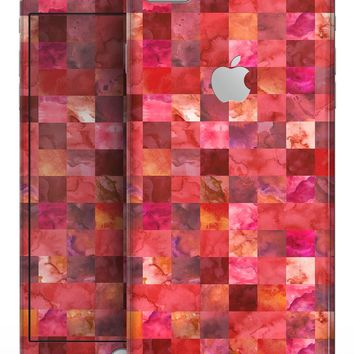 Red Watercolor Patchwork - Skin-kit for the iPhone 8 or 8 Plus