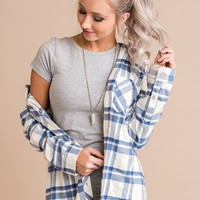 Anthony Flannel (Blue/Ivory)