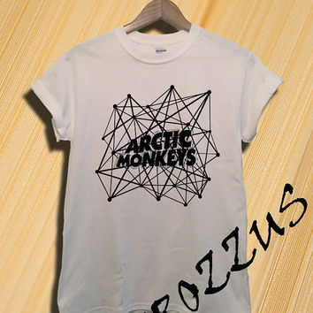 Arctic Monkeys Shirt The Artic Monkeys Shirts Tshirt T-shirt Tee Shirt Black Grey and White Unisex Size