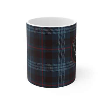 Ceramic Winter Mug For Dads - Fishing Hook Tartan Cup Holiday Gift For Fathers
