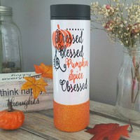 Pumpkin Spice Travel Tumbler