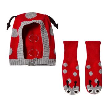 Stella McCartney Baby Girls Ladybug Hat and Booties