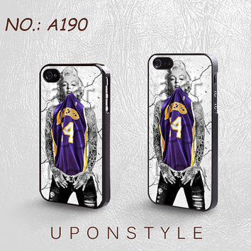 Phone Cases, iPhone 5 Case, iPhone 5s case, iPhone 4 Case, iPhone 4S Case, Marilyn Monroe, Lakers, Case for iphone, Case No-190