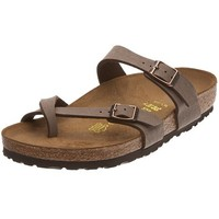 Birkenstock womens Mayari in mocca from Birko-Flor Thong 38.0 EU W